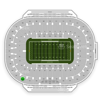 Notre Dame Fighting Irish Football at Notre Dame Stadium Section 132 View