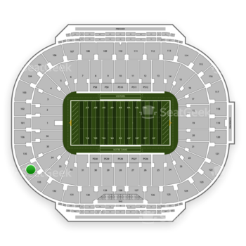 Notre Dame Fighting Irish Football at Notre Dame Stadium Section 134 View