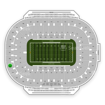 Notre Dame Fighting Irish Football at Notre Dame Stadium Section 135 View