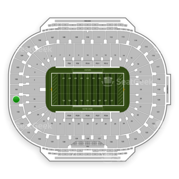 Notre Dame Fighting Irish Football at Notre Dame Stadium Section 136 View