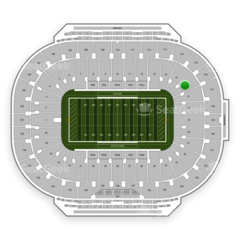 Notre Dame Fighting Irish Football at Notre Dame Stadium Section 16 View