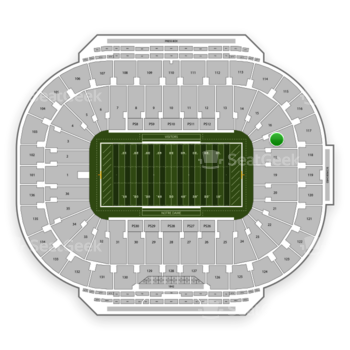 Notre Dame Fighting Irish Football at Notre Dame Stadium Section 17 View