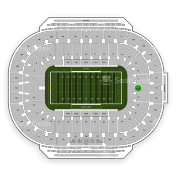 Notre Dame Fighting Irish Football at Notre Dame Stadium Section 19 View