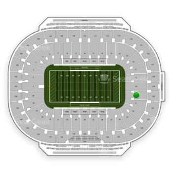 Notre Dame Fighting Irish Football at Notre Dame Stadium Section 20 View