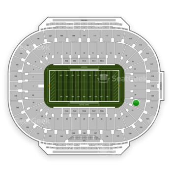 Notre Dame Fighting Irish Football at Notre Dame Stadium Section 21 View