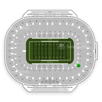 Notre Dame Fighting Irish Football at Notre Dame Stadium Section 22 View