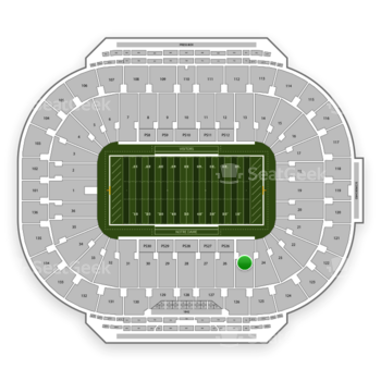 Notre Dame Fighting Irish Football at Notre Dame Stadium Section 25 View