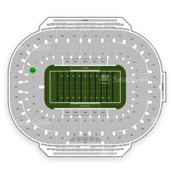 Notre Dame Fighting Irish Football at Notre Dame Stadium Section 3 View