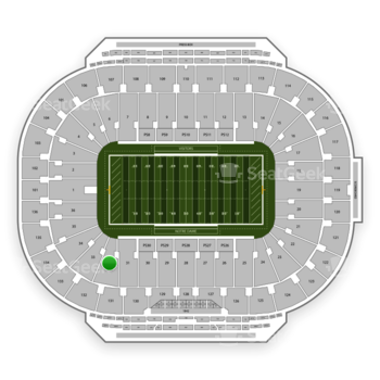 Notre Dame Fighting Irish Football at Notre Dame Stadium Section 32 View