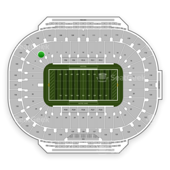 Notre Dame Fighting Irish Football at Notre Dame Stadium Section 5 View