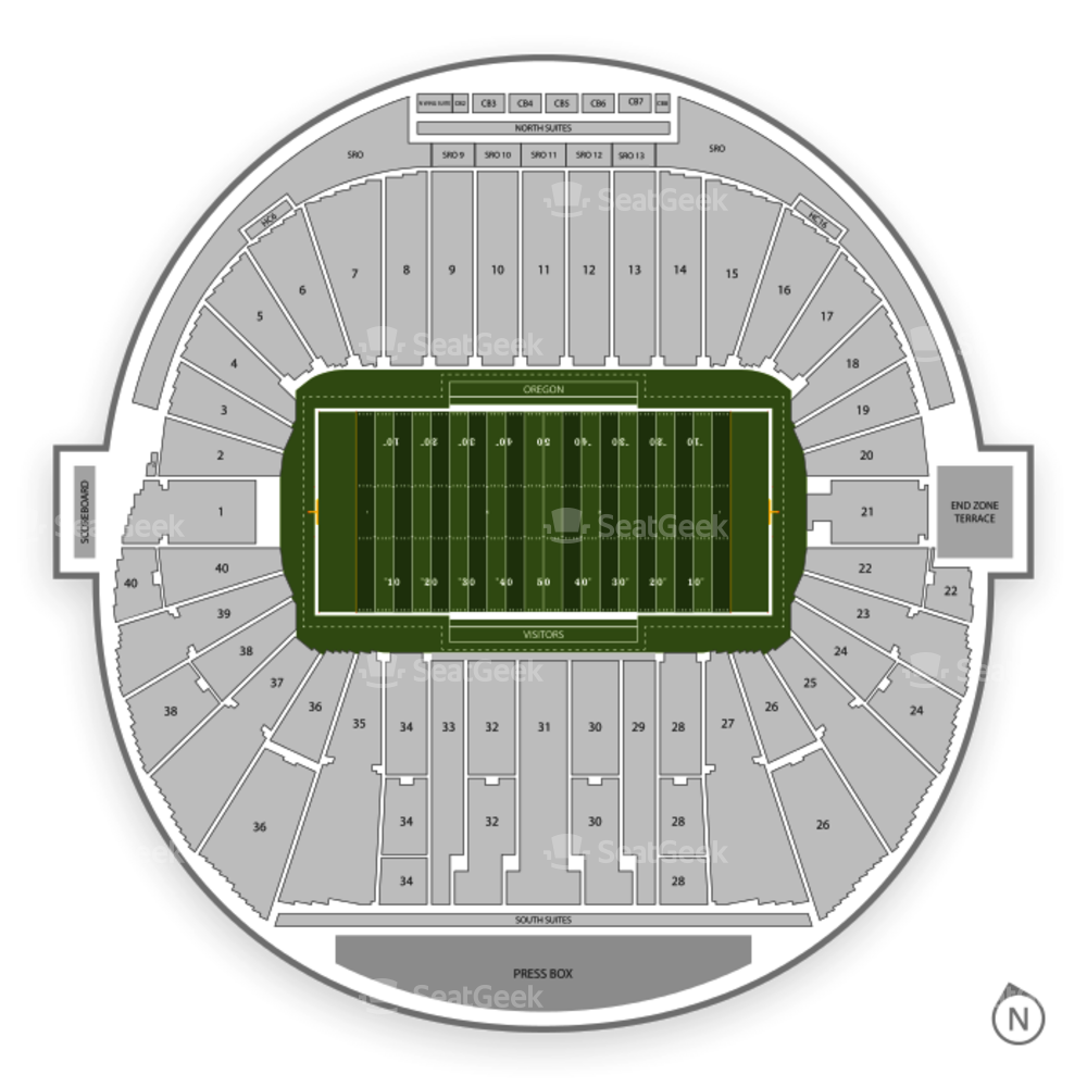 Oregon Ducks Football Seating Chart