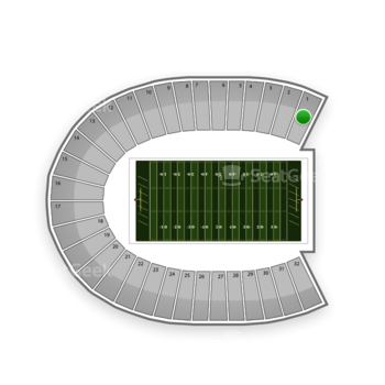 Duke Blue Devils Football at Wallace Wade Stadium Section 1 View