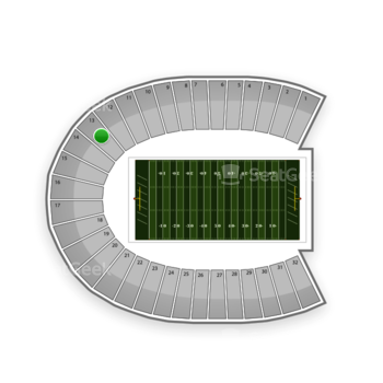 Duke Blue Devils Football at Wallace Wade Stadium Section 13 View