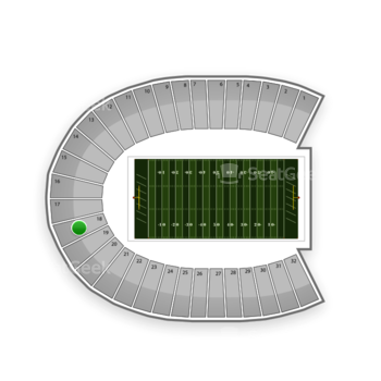 Duke Blue Devils Football at Wallace Wade Stadium Section 18 View
