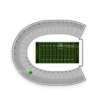 Duke Blue Devils Football at Wallace Wade Stadium Section 21 View