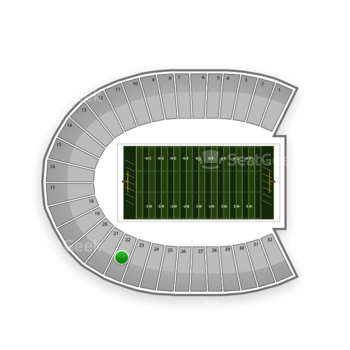 Duke Blue Devils Football at Wallace Wade Stadium Section 22 View