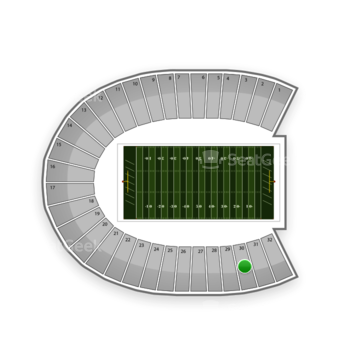 Duke Blue Devils Football at Wallace Wade Stadium Section 30 View