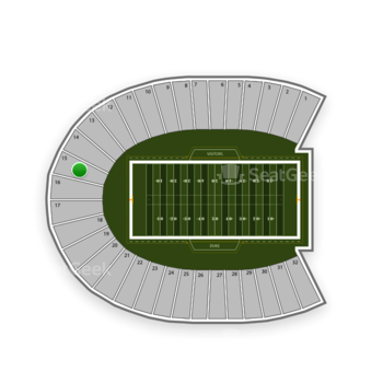 Duke Blue Devils Football at Wallace Wade Stadium Section 15 View