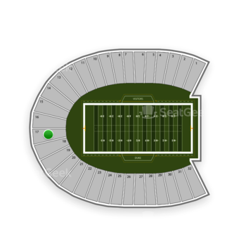Duke Blue Devils Football at Wallace Wade Stadium Section 17 View