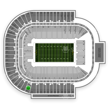 Arizona State Sun Devils Football at Sun Devil Stadium Section 213 View