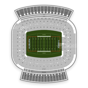 Auburn Tigers Football Seating Chart