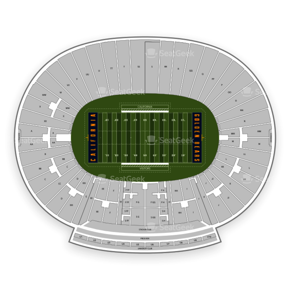 California Golden Bears Football Seating Chart