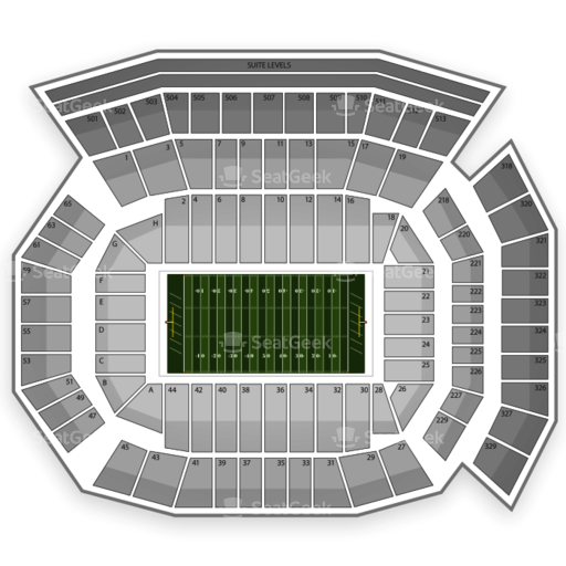 Ben Hill Griffin Stadium Seating Chart