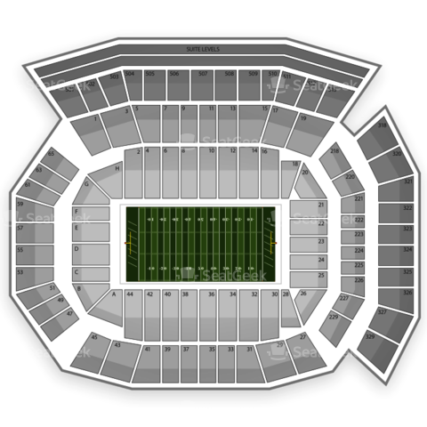 Ben Hill Griffin Stadium seating chart Florida Gators Football