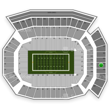 Florida Gators Football at Ben Hill Griffin Stadium Section 324 View