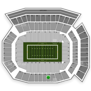 Florida Gators Football at Ben Hill Griffin Stadium Section 33 View