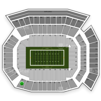 Florida Gators Football at Ben Hill Griffin Stadium Section 45 View