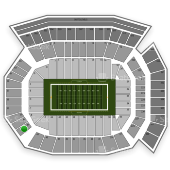 Florida Gators Football at Ben Hill Griffin Stadium Section 47 View