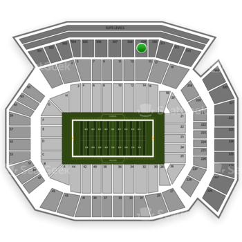 Florida Gators Football at Ben Hill Griffin Stadium Section 509 View