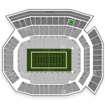 Florida Gators Football at Ben Hill Griffin Stadium Section 511 View