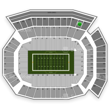 Florida Gators Football at Ben Hill Griffin Stadium Section 512 View