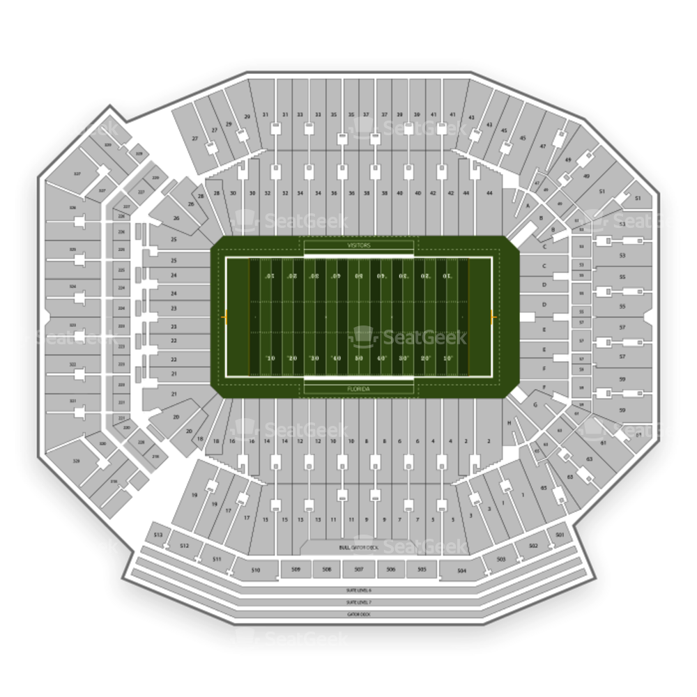 Florida Gators Football Seating Chart