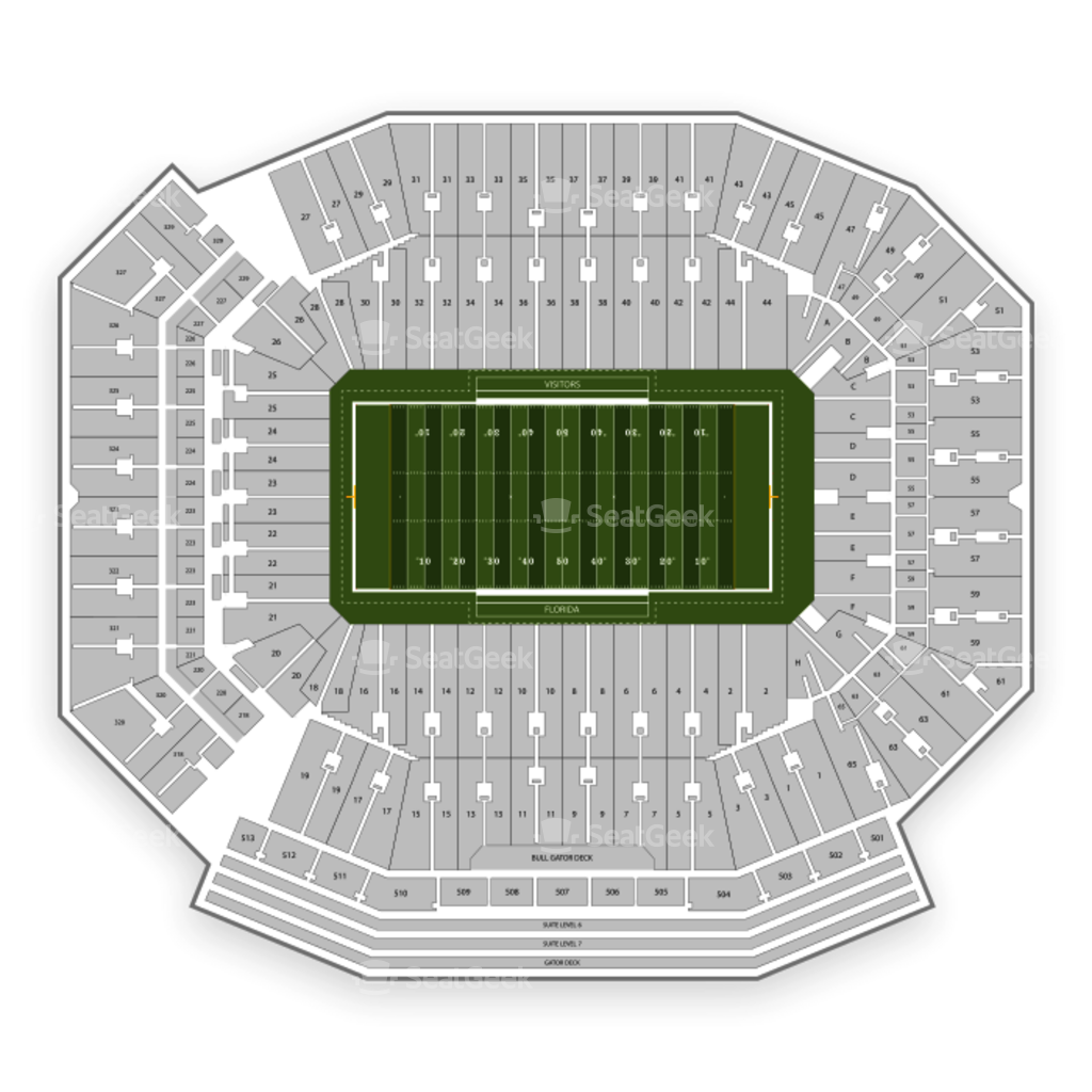 Ben Hill Griffin Stadium Seating Chart Seatgeek