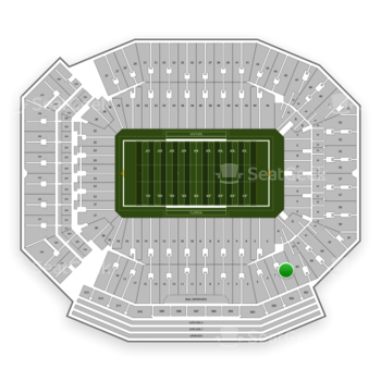 Florida Gators Football at Ben Hill Griffin Stadium Section 1 View
