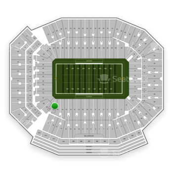 Florida Gators Football at Ben Hill Griffin Stadium Section 18 View