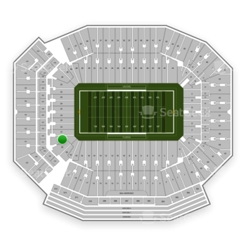 Florida Gators Football at Ben Hill Griffin Stadium Section 21 View
