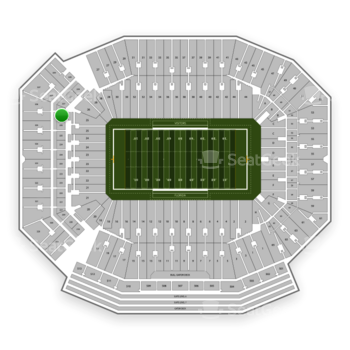 Florida Gators Football at Ben Hill Griffin Stadium Section 226 View