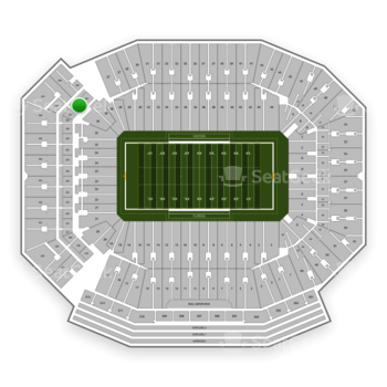 Florida Gators Football at Ben Hill Griffin Stadium Section 227 View