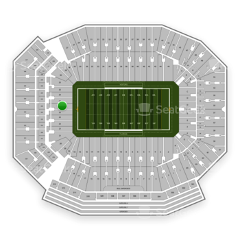 Florida Gators Football at Ben Hill Griffin Stadium Section 23 View