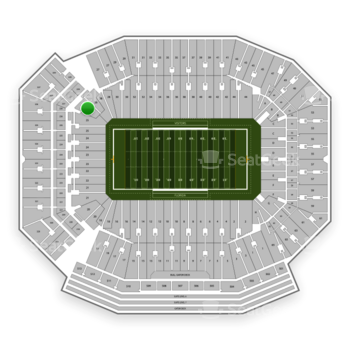 Florida Gators Football at Ben Hill Griffin Stadium Section 26 View