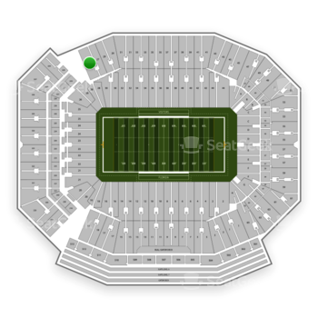 Florida Gators Football at Ben Hill Griffin Stadium Section 27 View