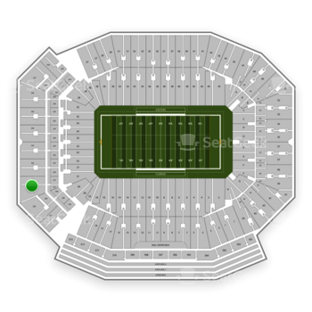 Florida Gators Football at Ben Hill Griffin Stadium Section 321 View