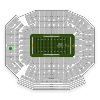 Florida Gators Football at Ben Hill Griffin Stadium Section 323 View