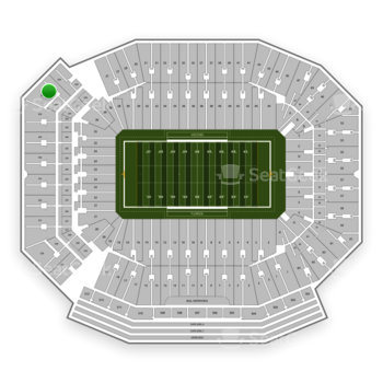 Florida Gators Football at Ben Hill Griffin Stadium Section 327 View