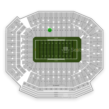 Florida Gators Football at Ben Hill Griffin Stadium Section 34 View