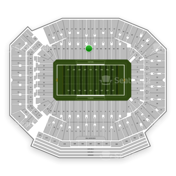 Florida Gators Football at Ben Hill Griffin Stadium Section 36 View